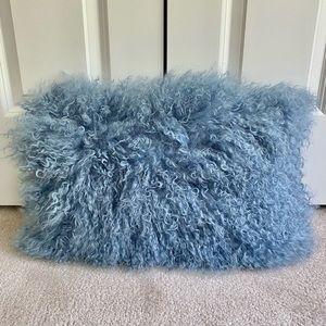 Blankenship Lamb Fur Rectangular 100% Wool Pillow
